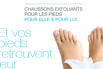 Les chaussons peeling : soin n°1